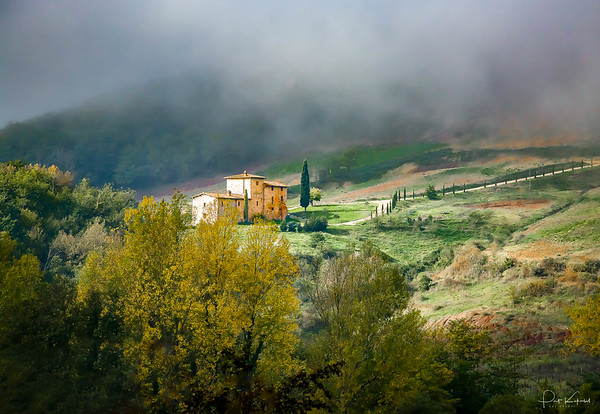 Farmhouse in Fog – Tuscany