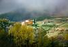 Farmhouse in Fog – Tuscany