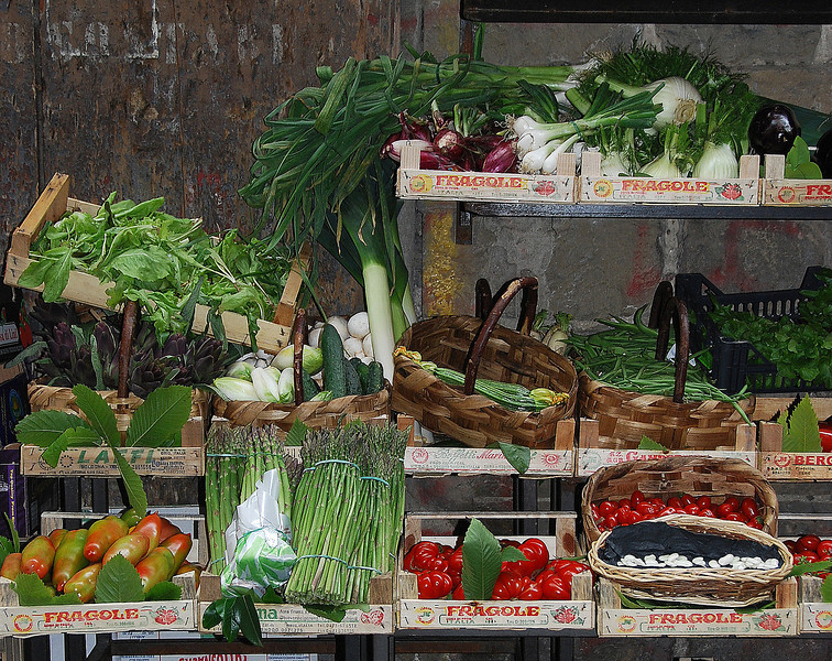 Vegetable stand, Rione di Trastevere, Roma, 2010.