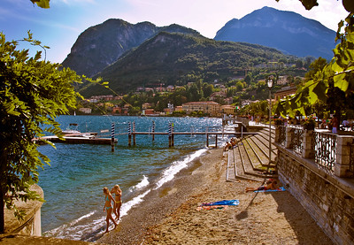 Menaggio Beach Afternoon –  Lake Como