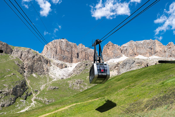 Tram in the Dolomites, Italian Alps