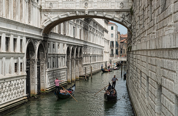 Many Gondolas in Venice
