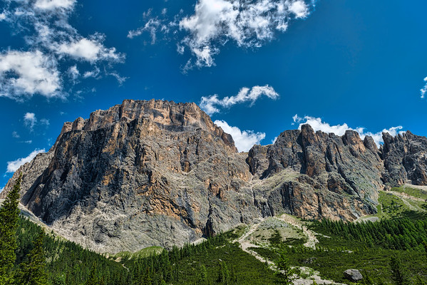 Italian Dolomites near Sela Pass
