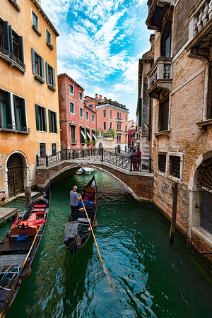 Venice gondola on waterway