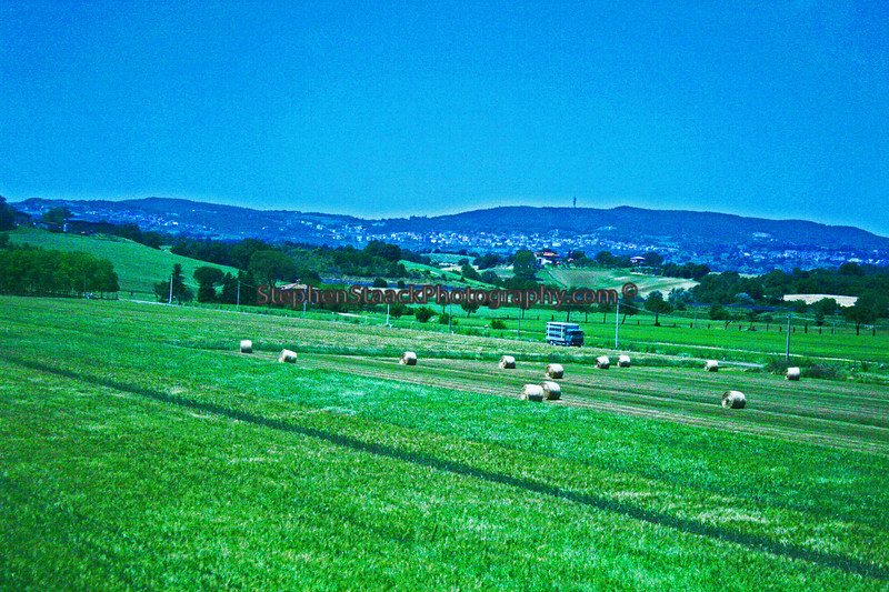Italian hay field somewhere near Assi, Italy.