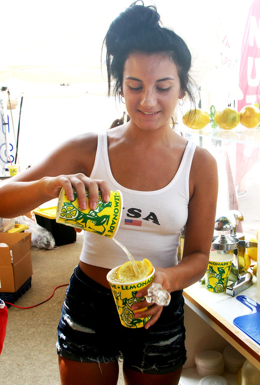 . Eve Guyette Kept the Lemonaid flowing in the heat