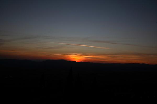 A beatiful sunset viewed from Cesi.