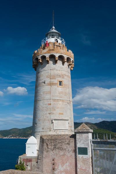 Forte Stella Lighthouse in Portoferraio, Elba