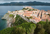 Panoramic view from Forte del Falcone (Forte Stella in background with lighthouse)