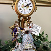 A ribbon cutting for Italian Treasures in Leominster was held on March 8, 2019. this German clock with Capodimonte figurines from Italy is for sale in the shop. SENTINEL & ENTERPISE/JOHN LOVE