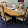 A ribbon cutting for Italian Treasures in Leominster was held on March 8, 2019. This antique Italian farm house table with four chairs is for sale in the new shop. SENTINEL & ENTERPISE/JOHN LOVE