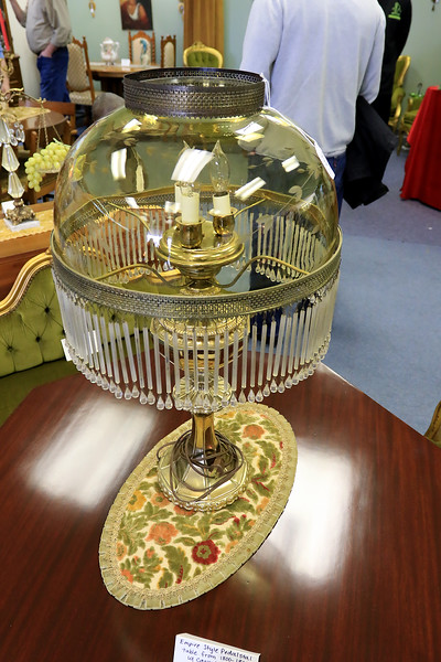 A ribbon cutting for Italian Treasures in Leominster was held on March 8, 2019. This lamp is one of the items for sale in the new shop. SENTINEL & ENTERPISE/JOHN LOVE