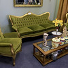 A ribbon cutting for Italian Treasures in Leominster was held on March 8, 2019. A three piece set of Victorian Italian turn of the century couch and chairs for sale on the shop. SENTINEL & ENTERPISE/JOHN LOVE