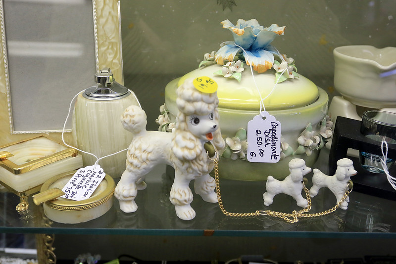 A ribbon cutting for Italian Treasures in Leominster was held on March 8, 2019. A copodimonte dish and some ceramic dogs that where for sale in the new shop. SENTINEL & ENTERPISE/JOHN LOVE