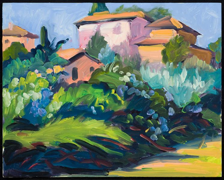 """Montecastello 2011, 8""""x10"""", oil on panel"""