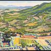 """Montecastello view, 2011, 22""""x26"""", oil on canvas"""
