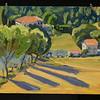 "Trees and Shadows, Montecastello 2007, 12""x14"", oil on canvas"