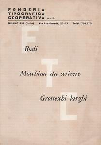 Prospectus of types by FTC. 1950s.