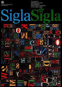 Prospectus of Sigla, a type designed by Umberto Fenocchio. 1970s.