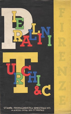 Advertising brochure by Pierallini & Turchi, Florence, 1936.