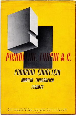Advertising brochure, Pierallini & Turchi, Florence, 1941.