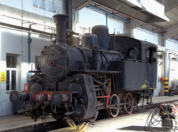 981.005, Cosenza Shed, 7 September 2007 1   This standard gauge rack and adhesion 0-6-0T, built by Breda in 1922, is the only operable(?) survivor of 8 built for the now closed rack line between Cosenza and Paola.  The class became redundant when a new adhesion line was built between the two towns.