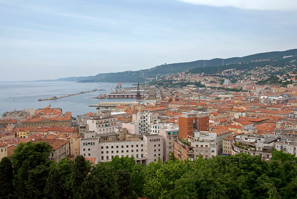 Welcome to Trieste! A general view of the city, looking north from San Giusto castle, 21 May 2009