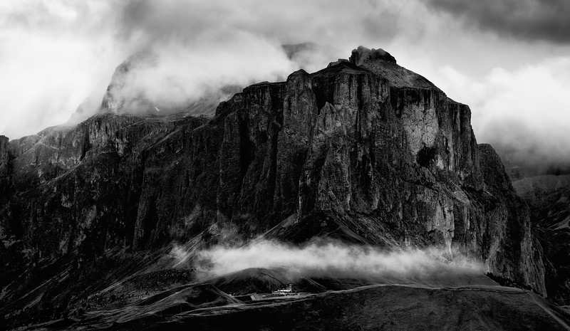 Clouds over Passo Sella