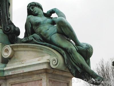 Copy of Michelangelo's allegorical statue of Dawn