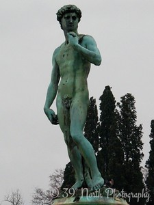 Fake David statue at the Piazzale Michelangelo‎