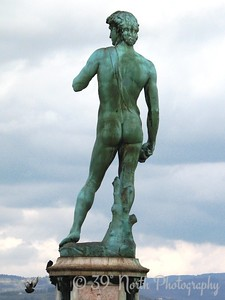 Fake David statue at the Piazzale Michelangelo