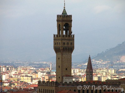 The tower of Palazzo Vecchio from Piazzale Michelangelo