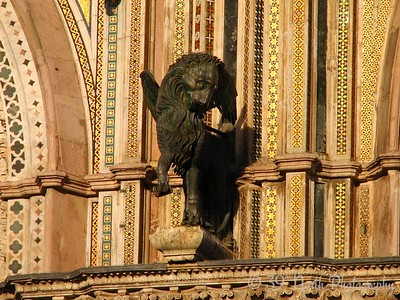The winged lion, symbol of St. Mark