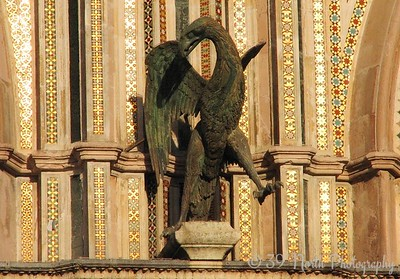 The eagle, symbol of St. John