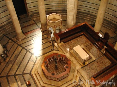 "The interior of the Baptistry from the ""women's gallery"""