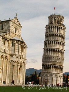 Construction of the first floor of the white marble campanile began on August 9, 1173. The tower started to lean almost immediately.