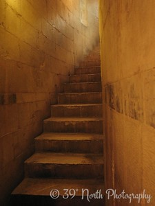 """The stairs to the """"women's gallery"""""""