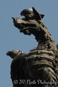 Dragon sculpture somewhere around the Basilica di Santa Maria Maggiore