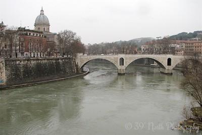 The Tevere (Tiber) River