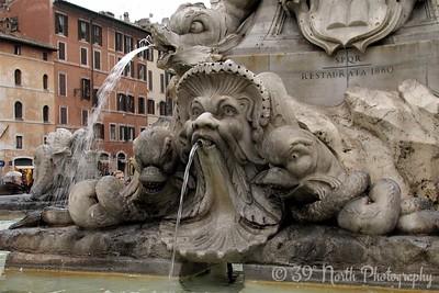 Giacomo della Porta designed this fountain in the the Piazza della Rotonda outside the Pantheon