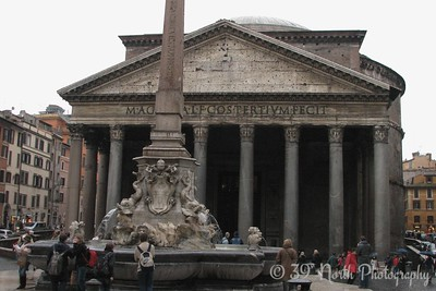 The Pantheon - the best preserved of all Roman buildings, and perhaps the best preserved building of its age in the world.