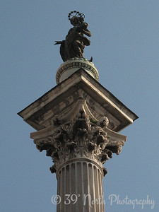 Column in front of the Basilica di Santa Maria Maggiore