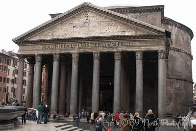 The Pantheon - originally built as a temple to all the gods of Ancient Rome