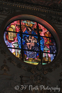 Stained glass window in the Basilica di Santa Maria Maggiore