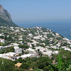 Looking down from Capri town
