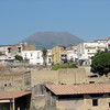 Mount Vesuvius rising above Ecolano