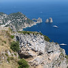 Capri - View from Monte Solaro of i Faraglioni