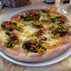 pizza with zucchini flowers - I didn't like this as much as I was hoping
