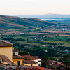 View of Tuscan Landscape and Lake Trasimeno - Cortona, Italy