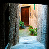 Door at the end of a Passageway - Cortona, italy